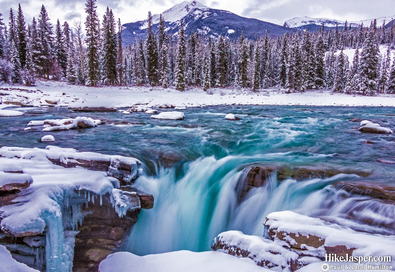 Photo Spots in Jasper National Park - Athabasca Falls in Winter