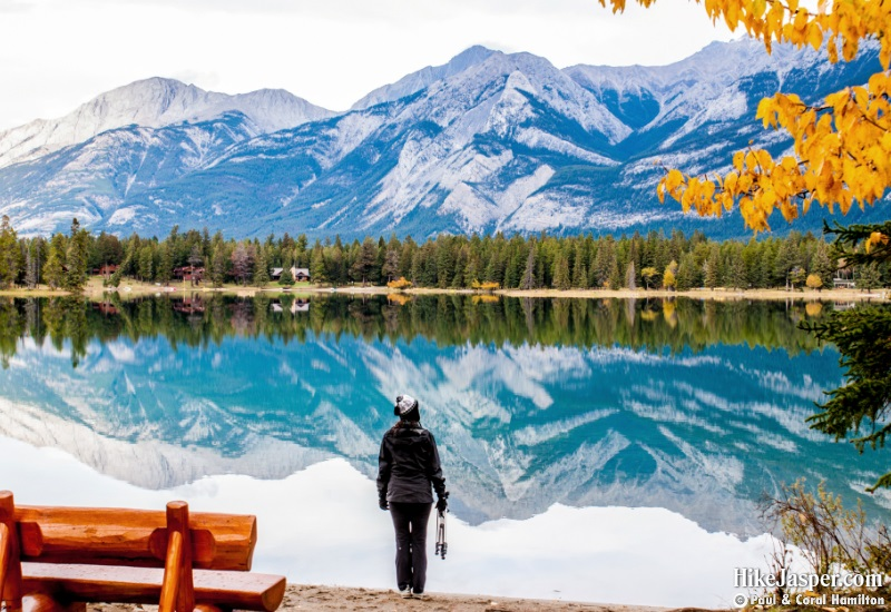 Photo Spots in Jasper National Park - Lake Annette and Lake Edith