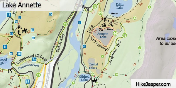 Lake Annette Loop Trail Map