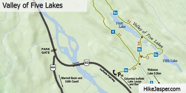 Valley of Five Lakes Map